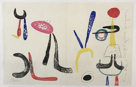 Joan Miró, 'Á toute épreuve (Proof against all)', 1958