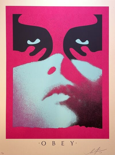 Shepard Fairey, 'Shepard Fairey Shadowplay Print Signed and Numbered Icon Face Obey Giant Street', 2019