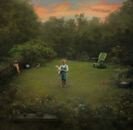 Scott Prior, 'Nellie & Ezra in the Backyard', 2020