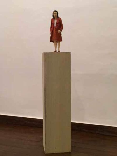 Stephan Balkenhol, 'Woman With Red Jacket', 2014