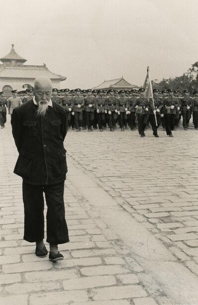 Hiroshi Hamaya, 'Rehearsal of the parade for the National Day on the Sacred Way, Beijing, China, ', 1956