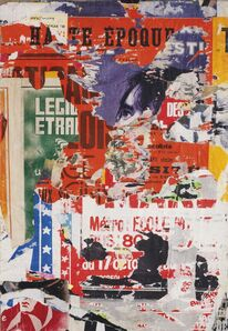 Jacques Villeglé, 'Quai de Grenelle', 1977
