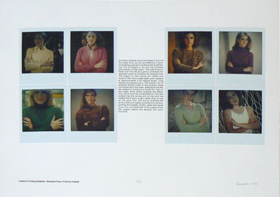 Robert Heinecken, 'Lessons in Posing Subjects: Standard Pose # 6 (Arms Folded)', 1982