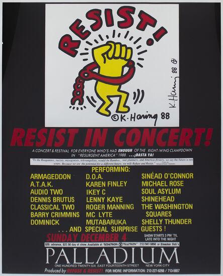 Keith Haring, 'Resist in Concert', 1988