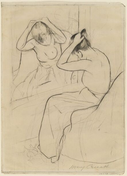 Mary Cassatt, 'The Coiffure', 1891