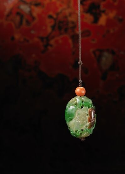 Unknown Chinese, 'An imperial three-colour jadeite pomander', China: Qianlong (1736-95)