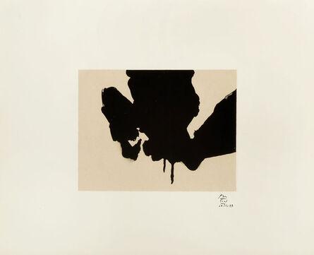 Robert Motherwell, 'Untitled from Octavio Paz Suite', 1988
