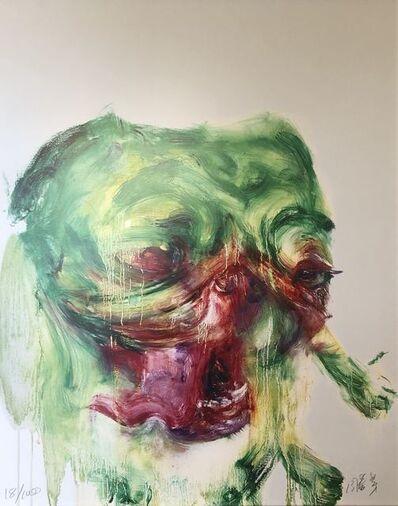 Zhou Chunya 周春芽, 'Green dog', 2006