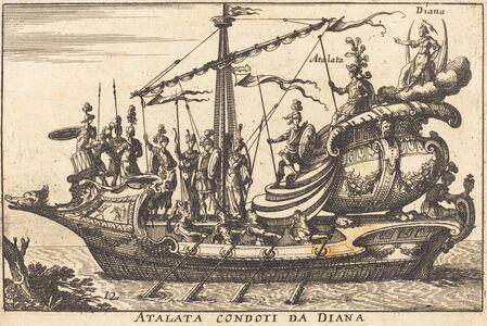 Balthasar Moncornet after Remigio Cantagallina, 'Atalata condoti da Diana'