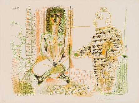 Pablo Picasso, 'Le Peintre et Son Modèle (Bloch 765, Mourlot 262)', 1954