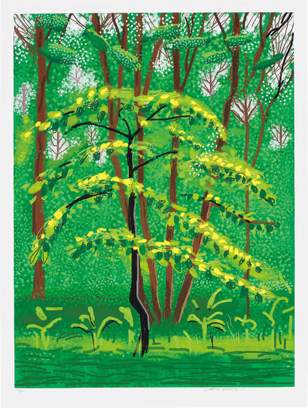 David Hockney, '19 May, from The Arrival of Spring in Woldgate, East Yorkshire in 2011 (twenty eleven)', 2011