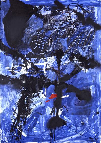 Antoni Clavé, 'Estels en blau i negre', 1987