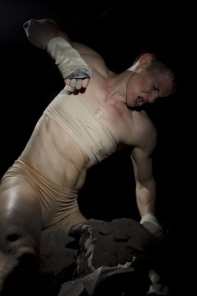 Cassils, 'Becoming an Image Performance Still No. 1, ONE National Archives, Transactivations, Los Angeles', 2012