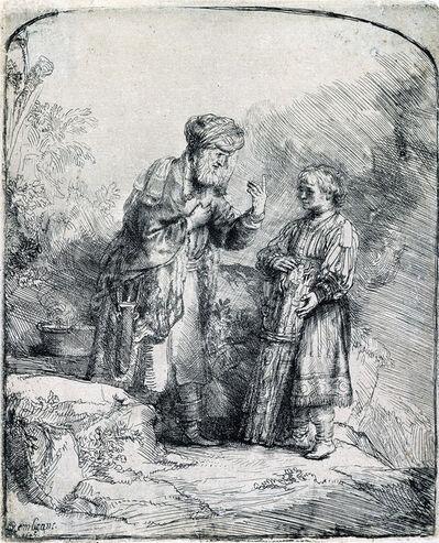 Rembrandt van Rijn, 'Abraham and Isaac (1st State)', 1645