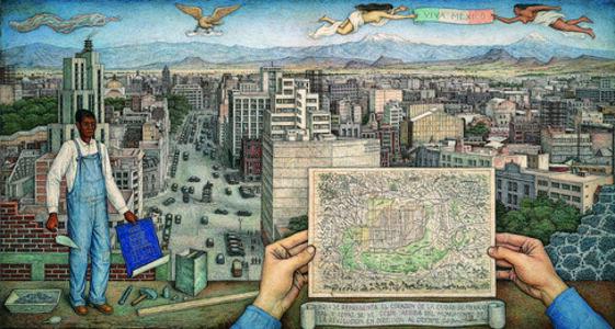juan o'gorman, 'Mexico City', 1949
