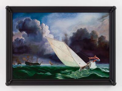 Kehinde Wiley, 'Ships on a Stormy Sea (Jean Julio Placide)', 2017