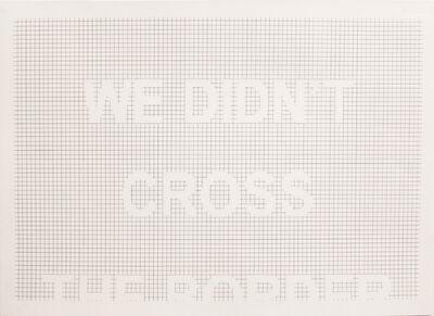 Miguel Angel Ríos, 'We Didn't Cross the Border', 2012