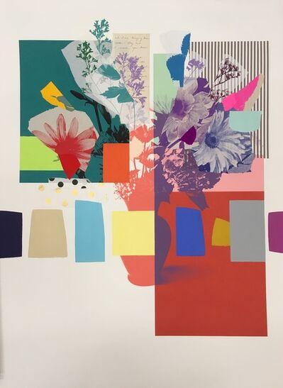Emily Filler, 'Paper Bouquet (purple & coral vase)', 2021