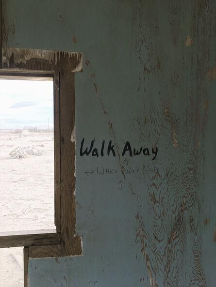 "Richard Misrach, '""Walk away,"" Lucerne Valley, California', 2017"