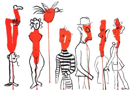 Alexander Calder, '(Circus 3 - Les Gueules Degoulinantes', 1966
