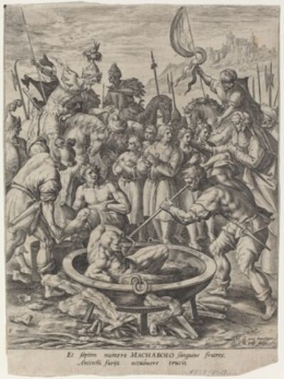 Crispijn van de Passe I after Maarten de Vos, 'History of the Maccabees'