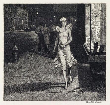 Martin Lewis, 'Night in New York', 1932