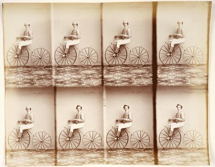 André Adolphe-Eugené Disdéri, 'Michaux sur son vélocipède (Michaux on His Bicycle)', 1867