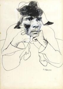 Ennio Calabria, 'Portrait of Pasolini', 1971