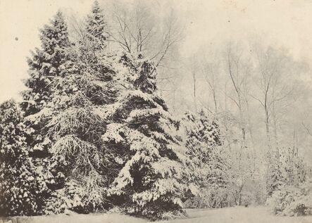 Baron A. Fays, 'Paysage de sapins sous la neige', ca. 1852