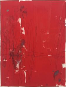 Ted Gahl, 'Commuters (Stranger's Hands Touching, Red)', 2015