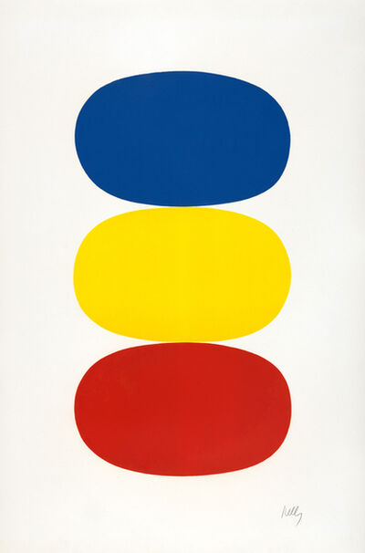 Ellsworth Kelly, 'Blue and Yellow and Red-Orange', 1964-1965
