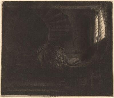 Rembrandt van Rijn, 'St. Jerome in a Dark Chamber', 1642