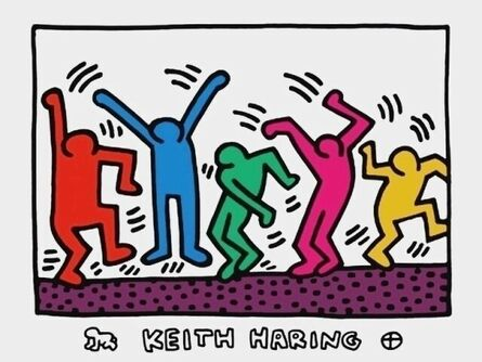 Keith Haring, 'Untitled (Five Dancing Figures)', ca. 1992