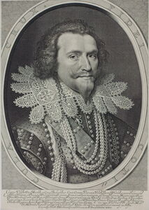 Willem Jacobsz Delff after Michiel van Miereveld, 'George Villiers (1592-1628), First Duke of Buckingham, statesman in the Courts of James I and Charles I ', 1626