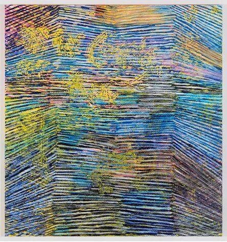 Harmony Korine, 'Pep Cubbie Line Painting', 2014