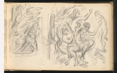 """Paul Cézanne, 'Two Studies for """"The Judgement of Paris"""" or """"The Amorous Shepherd""""', 1883/1886"""