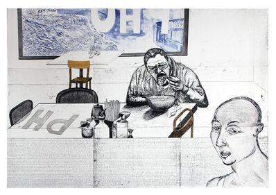 Daniel Heyman, 'Fall: Artist Eats Pho', 2011