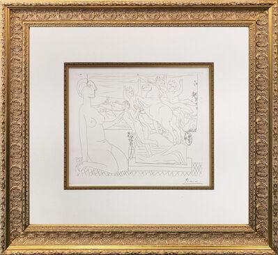 Pablo Picasso, 'MODELE CONTEMPLANT UN GROUPE SCULPTE (BLOCH 175)', 1933