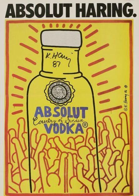 Keith Haring, 'Absolut Vodka', 1986