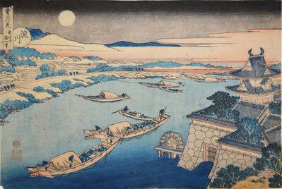Katsushika Hokusai, 'Yodo River in Moonlight', ca. 1832