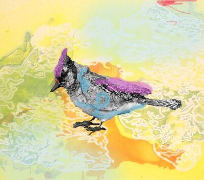 Anne Chu, 'Blue jay monotype', 2010