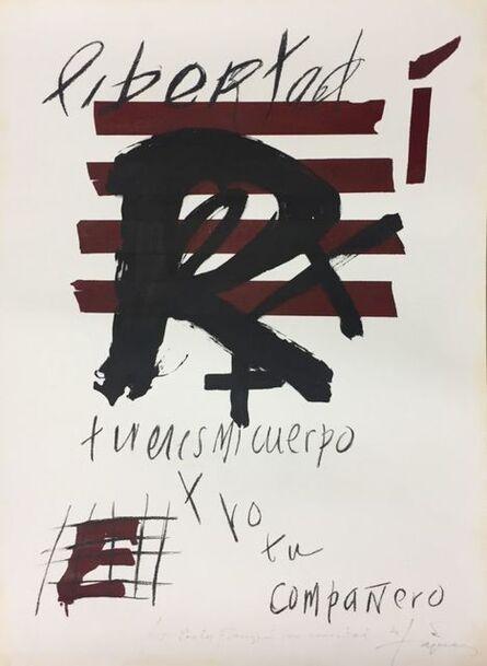 Antoni Tàpies, 'Libertad', 1976