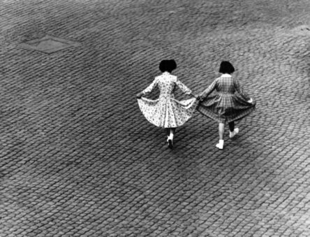 Herbert List, 'Dance of the Dresses View from Max Scheler's apartment. Rome, Italy.', 1953