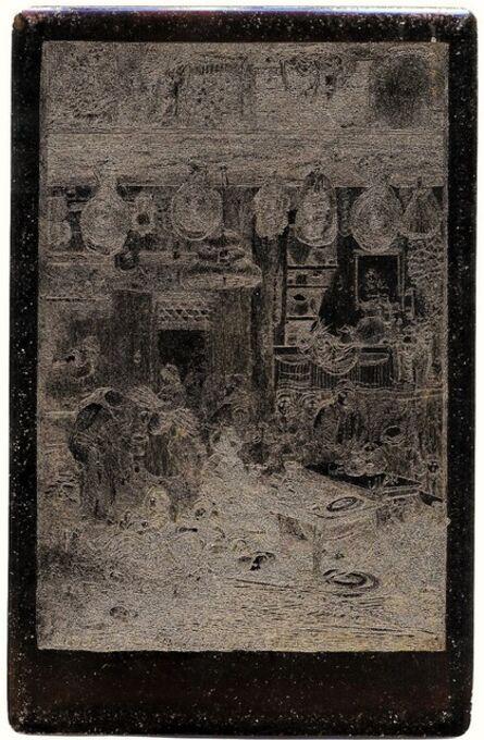 Rodolphe Bresdin, 'Intérieur Moldave - Original Copperplate', 1859-1865