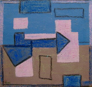 Agnes Weinrich, 'Abstract (Pink and Blue)', n.d.
