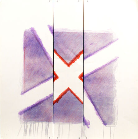 Richard Smith (1931-2016), 'Two of a Kind IVa (red x on lavender)', 1978