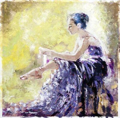 Elena Bond, 'Dancer Tying her Slipper', N/A