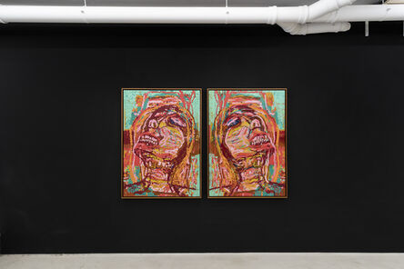 Gerald Davis, 'Woman Smiling 1 and 2', 2019