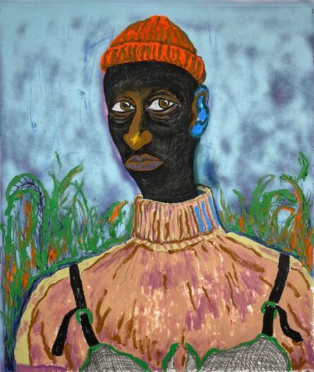 Simphiwe Ndzube, 'Portrait of Magwaza', 2020