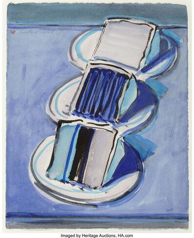 Wayne Thiebaud, 'Three Cake Slices', 2008